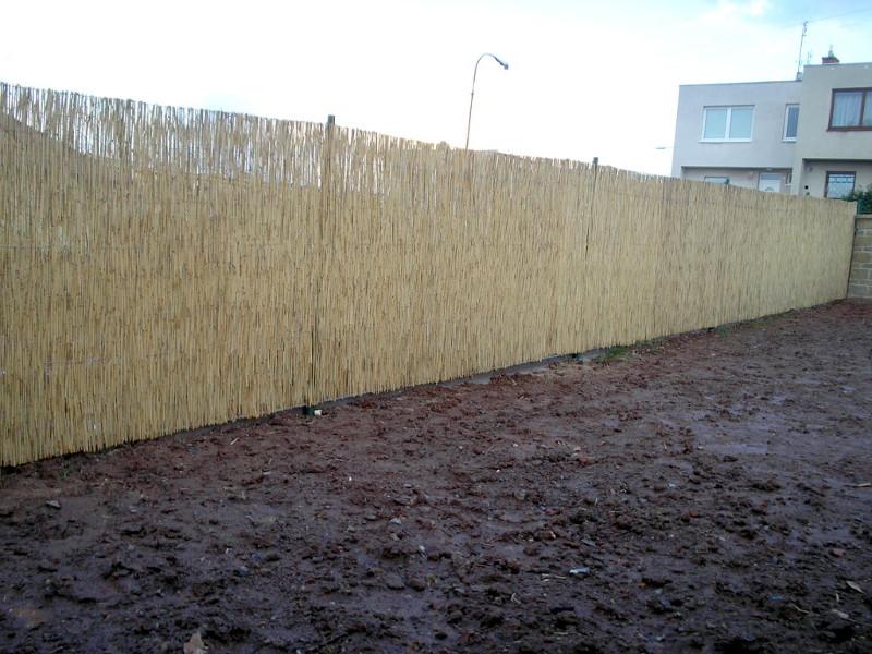 Rákosové plotovky z rákosových rohoží